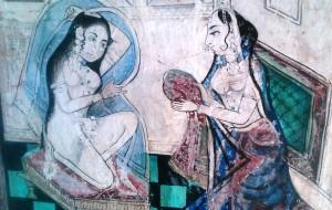 Bundi, dipinto all'interno del Bundi Palace.