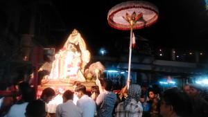 Pushkar, processione serale per il Festival del Rama Valkunth Temple. Ogni sera per 10 giorni.