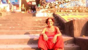 Rishikesh, tramonto sul ghat.