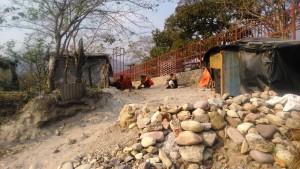 Rishikesh, villaggio di Swarg Ashram. La zona abitata dai sadhu.