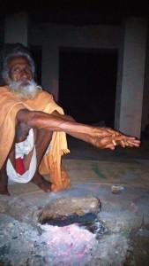 Amarkantak, 5 febbraio 2016. Il guru dell'ashram.