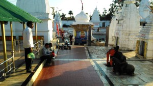 Amarkantak, 5 febbraio 2016. Il tempio costruito alla sorgente del Narmada.