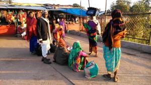 Amarkantak, 5 febbraio 2016. Pellegrinaggio alla sorgente del fiume Narmada.