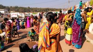 Amarkantak, 8 febbraio 2016. Pellegrinaggi alla sorgente del Narmada per la festa della Luna Nera.