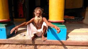 Chhattisgarh, 8 febbraio 2016. Il guru dell'ashram.