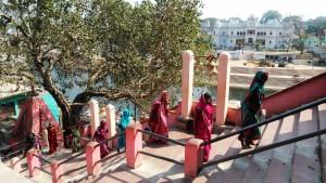 Chitrakoot, 11 febbraio 2016. La scalinata del Sankar Temple.