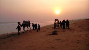 Copia (2) di Orissa, Puri, 12 gennaio 2016. Tramonto sul Golfo del Bengala.