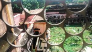 Copia di Tamil nadu, Tanjore. Parte del Royal Palace in stato di abbandono.