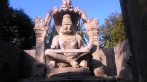 Karnakata, Hampi. Ugra Narasimha, il maggior idolo di Hampi.