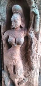 Karnataka, Hampi, Crishna Temple. Particolare del portale, XVI secolo.
