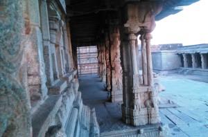 Karnataka, Hampi. Tramonto sul Krishna Temple.
