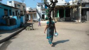 Karnataka, dintorni di Hampi. La cittadina di Kamalapura.