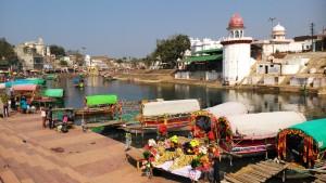 M. Pradesh, Chitrakoot,10 febbraio 2016. Raghavghat, sul fiume Mandakini.