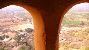 Madhia Pradesh, Chitrakoot, 12 febbraio 2016. Panorama dall' Hanuman DharaTemple.