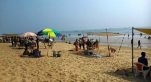 Orissa, Puri, 4 gennaio 2016. La spiaggia Subham.