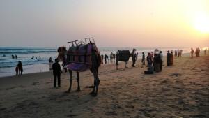 Orissa, Puri, Shubham Beach. Tramonto del 30 gennaio 2016.