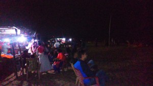 Orissa, Puri. La spiaggia Est di sera.