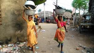 Orissa, Puri. La zona dei pescatori.