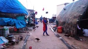 Orissa, Puri. Verso sera al villaggio dei pescatori.