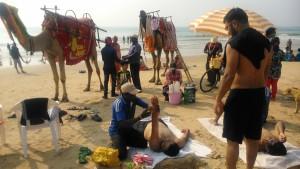 Puri, Shubham Beach, 18 gennaio 2016. Massaggi.