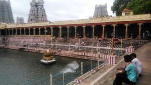 Tamil Nadu, Madurai. Il lago del Sri Meenakshi Temple.