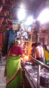 Tamil Nadu, Suchindram. Aspetti del Thanumalayan Temple.