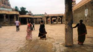 Tamil Nadu, Trichi. Interni del Sri Ranganathaswami Temple.