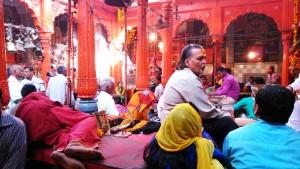 Varanasi, 1 marzo 2016. Kaal Bhairav, a temple dedicated to Lord Shiva.