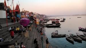Varanasi 23 febbraio 2016. Tramonto.