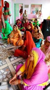 Varanasi, 27 febbraio 2016. Le donne del pellegrinaggio di Shimla, H. P.