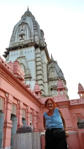 Varanasi, 28 marzo 2016, città universitaria. Il Vishwanath Temple.