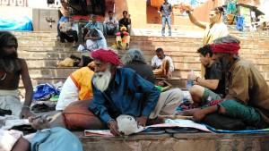 Varanasi, 28 marzo 2016. Mattina al Rajendaprasad Ghat.