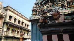 Varanasi, 4 aprile 2016. Shiva Temple nei pressi dell' Assi Ghat.