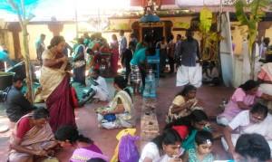 Varkala, pranzo al Janardhana Temple.