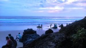 Varkala. Papanasham Beach di sera.