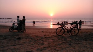 Gokarna, 29 gennaio 2017. Sun set.