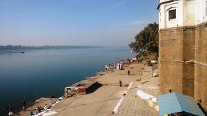 Maheswar, 22 dicembre 2016. I ghat del Narmada