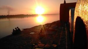 Maheswar 22 dicembre 2016. Il tramonto.