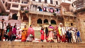 Varanasi, 10 dicembre 2016. Matrimonio al Chousatti Ghat.