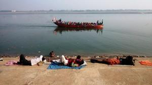 Varanasi, 14 dicembre 2016. Lungo il Gange.