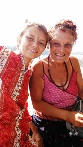 Gangavali, 28 gennaio 2017. Con una ragazza ucraina sul barcone.