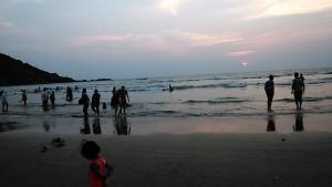 Gokarna, 14 gennaio 2017. Verso sera sulla spiaggia.