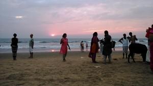 Gokarna, 26 gennaio 2017. Un attimo di sole al tramonto.