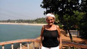 Gokarna, 3 febbraio 2017. La Main Beach vista dal Rama Temple.