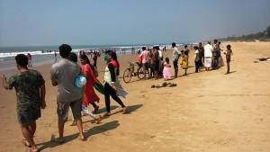 Gokarna, 5 febbraio 2017. La Main Beach verso mezzogiorno.