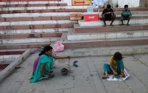 Piccolo show al Kedar Ghat.