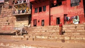 Varanasi, 12 marzo 2017. Il palazzetto rosso oggi.