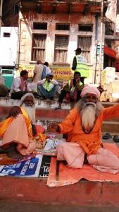 Varanasi, 22 febbraio 2017. Sadhu al Meer Ghat.