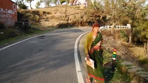 Kasar Devi, 9 aprile 2017. Abitante del luogo.