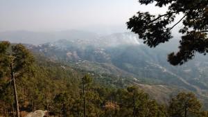 Panorama dal Kasar Devi Temple.